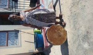 Aunty and her drum