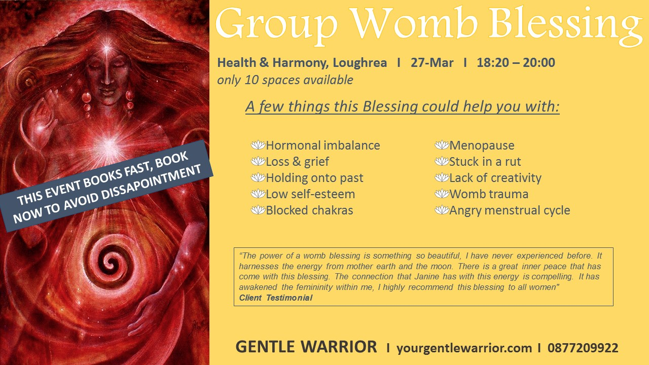 group womb blessing flyer